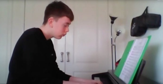 Oliver playing Oltremare by Einaudi